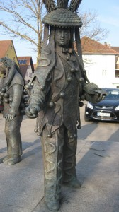 Der Schömberger Fransennarr als Bronzeskulptur