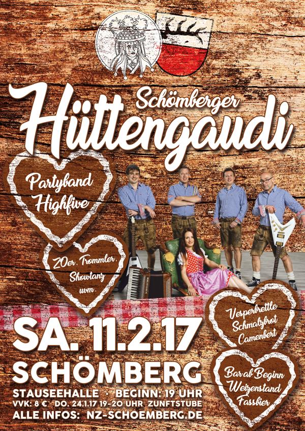 Schömberger Hüttengaudi 2017 Plakat