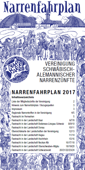 Narrenfahrplan 2017 der VSAN