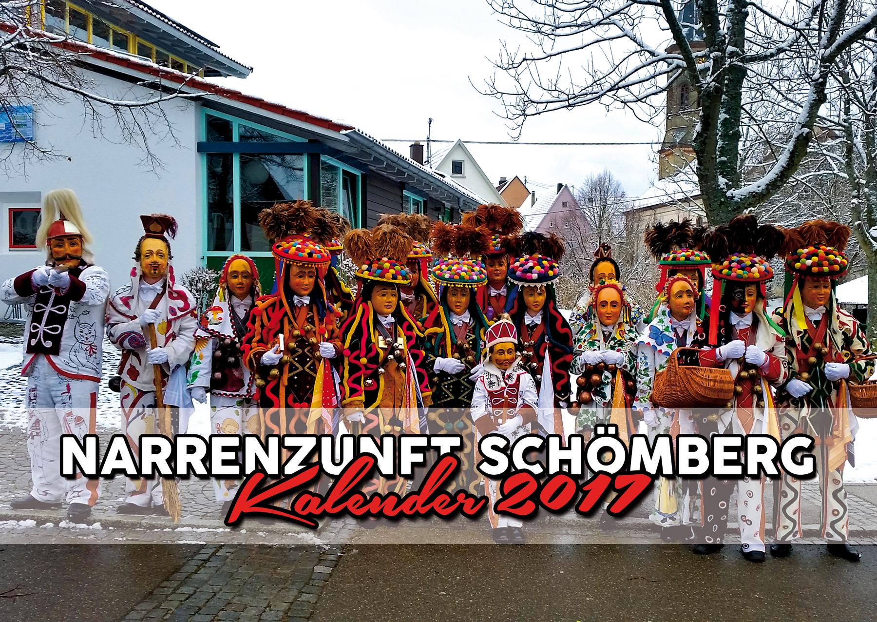 Kalender Narrenzunft Schömberg 2017