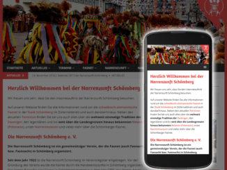 Narrenzunft Homepage geht mobil