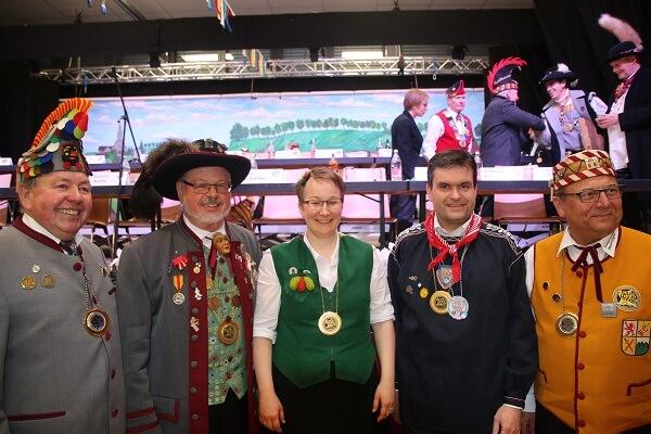 VSAN-Hauptversammlung 2017 in Bonndorf neu gewählte Präsidiumsmitglieder