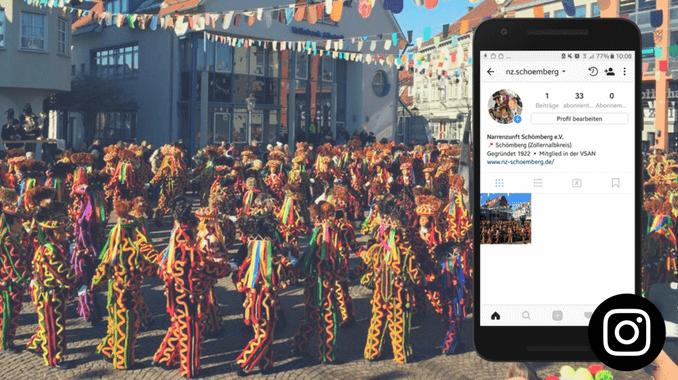 Narrenzunft Schömberg ist ab sofort auch bei Instagram