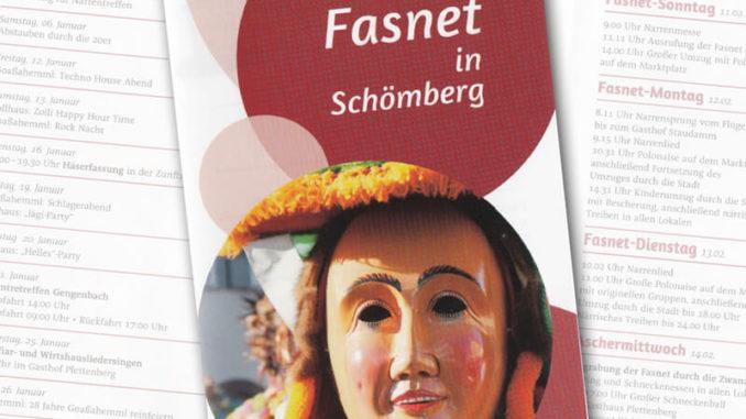 Flyer der Narrenzunft Schömberg zur Schömberger Fasnet 2018
