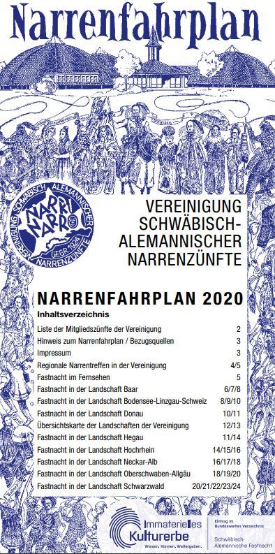 Narrenfahrplan VSAN 2020