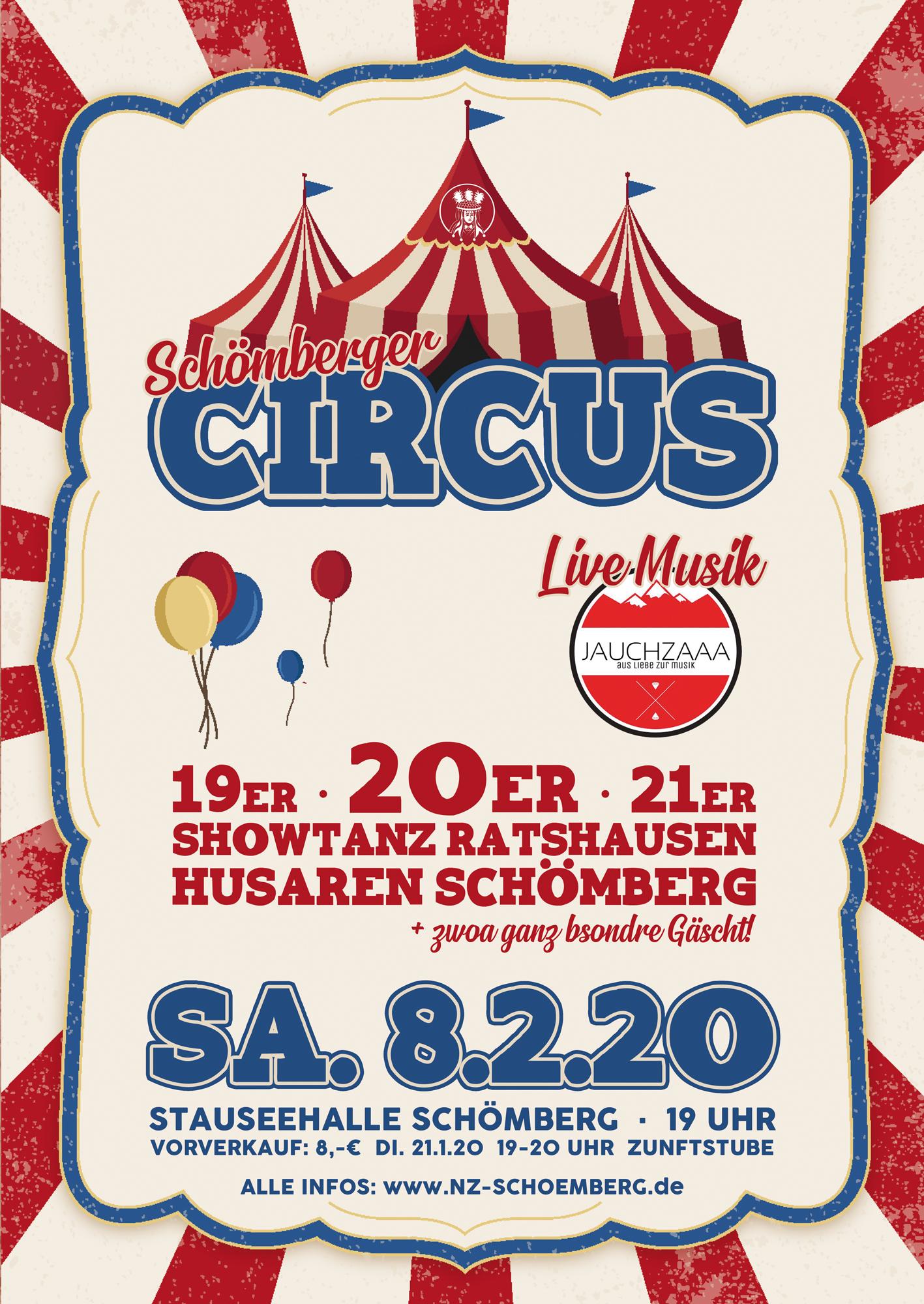 Schömberger Circus 2020 Plakat